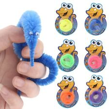Magic Twisty Fuzzy Worm Wiggle Moving Sea Horse Kids Trick Toy Caterpillar