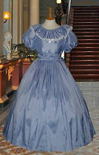 Ladies Victorian  American Civil War 3pc pale blue costume fancy dress 6-20