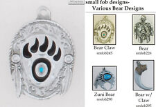 Bear fobs, various designs & watch chain options