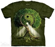THE MOUNTAIN YING YANG TREE PEACE HIPPY LOVE HAPPINESS NATURE T TEE SHIRT S-5XL