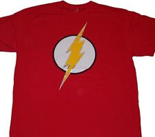 DC Comics The Flash Symbol Classic Red Licensed Tee Shirt NWT Adult Sizes