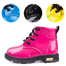 Many Colors Kids Martin Boots Girls Boys Childrens Water-Proof Lace Zip Shoes