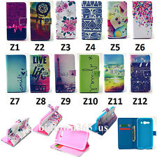 1pc Folio Magnetic PU Leather Stand Card Book TPU Case Cover For Samsung Phone