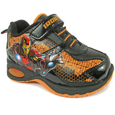 Iron Man Boys Black Lighted Sneakers Shoes IMS903 7 8 9 10 11 12