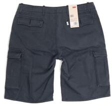 BRAND NEW LEVI'S MEN'S PREMIUM COTTON RELAXED FIT CARGO SHORTS BLACK 124630177
