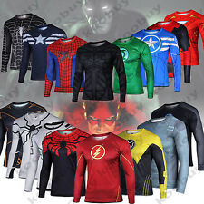 Marvel Superhero The Avengers Costume T-Shirt Sports Jersey Cycling Shirts Tops