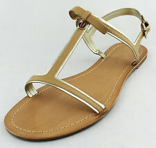 Tommy Hilfiger Womens Medium Natural Lisel Sandal Shoes Ret $49 New