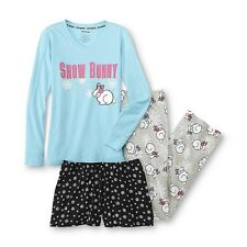 Joe Boxer Women's Pajama Shirt, Pants & Shorts - Bunny Rabbit Size M, L, & XL