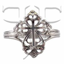 Womens Cross Ring | Stainless Steel Renaissance Style Cross Ring Size 6 7 8 9 10
