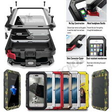 Armor Aluminum Metal Bumper Tempered Glass Heavy Duty Hard Case Cover For iPhone
