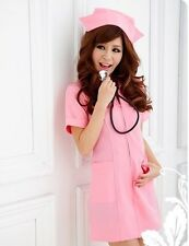 Sexy Nurse Game Cosplay nightwear Sex Lingerie set underwear free shipping