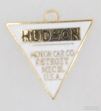 Gold-plated triangular Hudson automobile fob, with various watch chain options