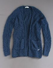 NWT Abercrombie A&F Long Cardigan Sweater M/L Women's Top Navy NEW