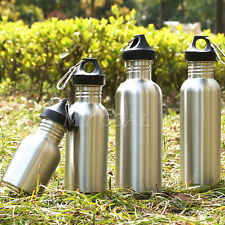 Wide Mouth Stainless Steel Water Bottle BPA Free Cycling Camping Outdoor Sports