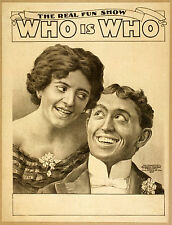 Photo Print Vintage Poster: Stage Theatre Flyer Who Is Who C04