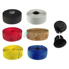 Cinelli Gel Cork - Road Bike Handlebar Tapes With Cinelli Bar Plugs And Tapes