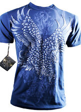 XZAVIER LIMITED COLLECTION OUR NATION EAGLE WINGS  T SHIRT BATTLE WARRIOR