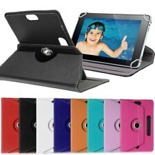"360 Rotation Flip Leather Stand Case Cover For Android Tablet 10.1"" 10"" 9 8 7"""
