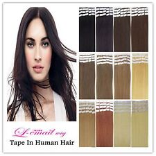 Discount 100% Indian Remy Human Hair Extensions PU Tape in hairpiece 40pcs/100g