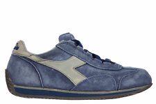 DIADORA HERITAGE SCARPE SNEAKERS DONNA CAMOSCIO NUOVE EQUIPE S BLU SHOES TRA D71