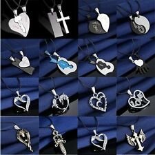 Fashion Silver Unisex's Men Stainless Steel Cross Pendant Necklace Chain GIFT