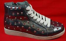 NEW Girls Youth CANDIES DAPHNIS Silver  Zipper/Lace Studs Fashion Casual Shoes