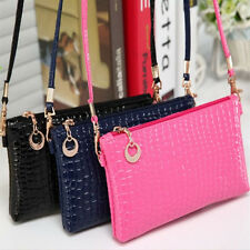 Women Messenger Bag PU Leather Crossbody Satchel Tote Clutch Shoulder Handbag