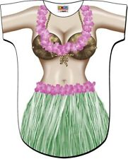 Hawaii Hula Sarong Hibiscus Turtle Tropical Bikini Swimsuit Cover Up Tee T-Shirt