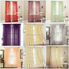 Door Room Voile Window Curtain Sheer Panel Drapes Scarfs Curtain Multi-Color D48