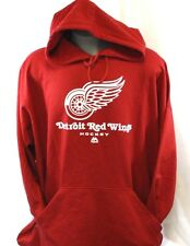 New MAJESTIC Mens Detroit RED WINGS Hockey Big & Tall NHL Logo Pullover Hoodie