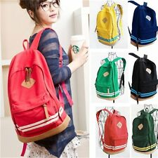 Fashion Women Girl Unisex Canvas Travel Backpack Leisure Bag Rucksack School Bag