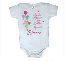 BABY GIRL Onesie Thank Heaven for Little Girls Romper Personalized Free