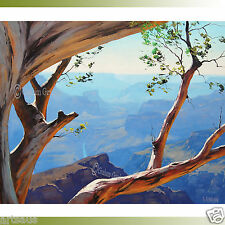 Grand Canyon Painting Desert Landscape Tree Original Scenic Southwestern Realist