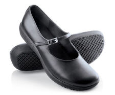 SFC Shoes for Crews Women's Mary Jane Black Leather Shoes 3603 $64 NEW