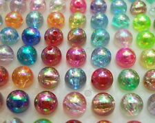 200pcs Shining Multicolor Transparent Acrylic beads shiny Loose bead 8mm DF277