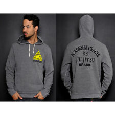 Roots of Fight Classic Academia Gracie Pullover Hoodie - Heather Grey