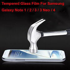 Premium Tempered Glass Screen Protector For Samsung Galaxy Note 1 2 3 3 Neo 4 5