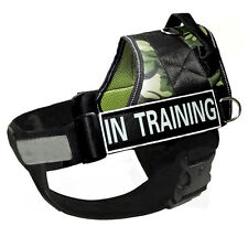 Removable Chest Plate Harness Service Dog Vest Free label Patches IN TRAINING