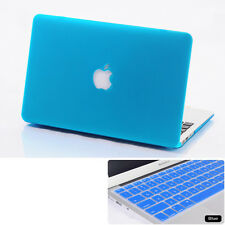 Sky Blue Rubberized Hard Case KB Cover For Macbook Air Pro 11 13 15 '' +Retina