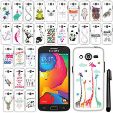 For Samsung Galaxy Avant G386T Art Design PATTERN HARD Case Phone Cover + Pen