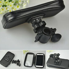 Black Motorcycle Bike Handlebar Holder Mount Waterproof Bag Case for Cell Phone