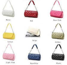 Sexy Ladies Quilting Chain Candy Color Shoulder Cross Diamond-type Body Handbag