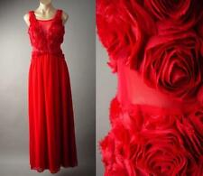 Red Rose Flower Applique Formal Party Evening Ball Prom Gown Long 138 mv Dress