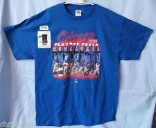 CHICAGO CUBS MLB PLAYOFF FEVER '08 BLUE T-SHIRT M L XL FREE SHIPPING CLOSEOUT