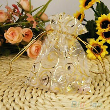 25/50Pcs Fancy Wedding Party Jewelry Organza Drawstring Favour Gift Bag Pouches