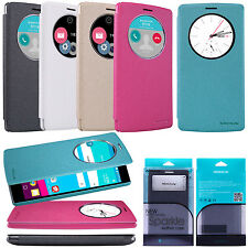 Genuine Nillkin Wake UP PU Leather Flip Case Quick Window Smart Cover For LG G4