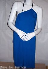 Smooth Soft Dress with Draped Ruffle Trim from PII by Poleci - Blue (XS, S, M)