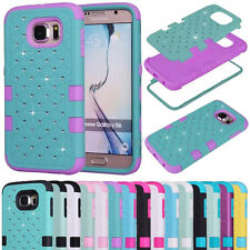 Rugged Bling Diamond High Impact Matte Combo Cases Cover for Samsung Galaxy S6