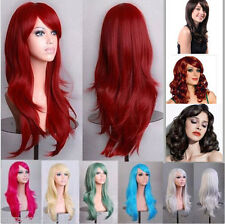 70cm Women Long Wavy Curly Hair Synthetic Cosplay Full Wig Wigs Party Anime Wigs