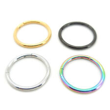 16G 10mm or 8mm Hinged Septum Clicker Nose Ring Segment Ear Cartilage Daith